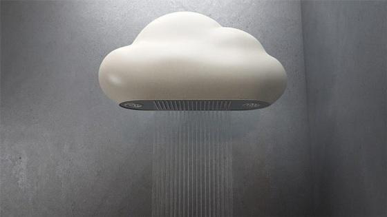 cloud shower head design