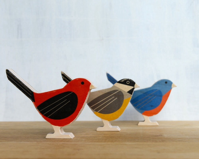 various birds available
