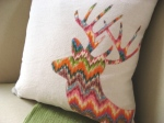 rainbow chevron deer pillow cover