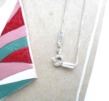 fresh colors leather pendant