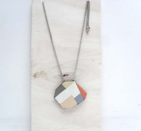 geometric light fall pendant