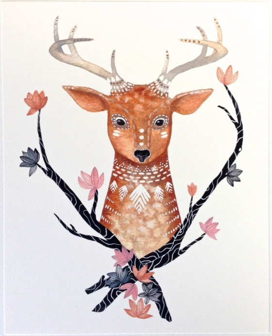 woodland animal illustration