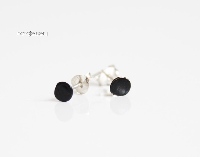 black post earrings