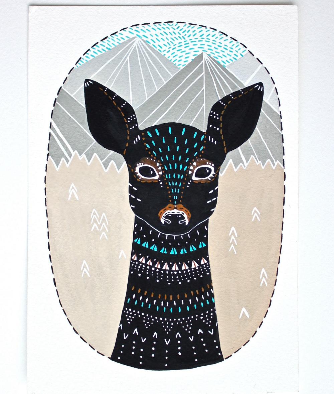 Deer Illustration 1
