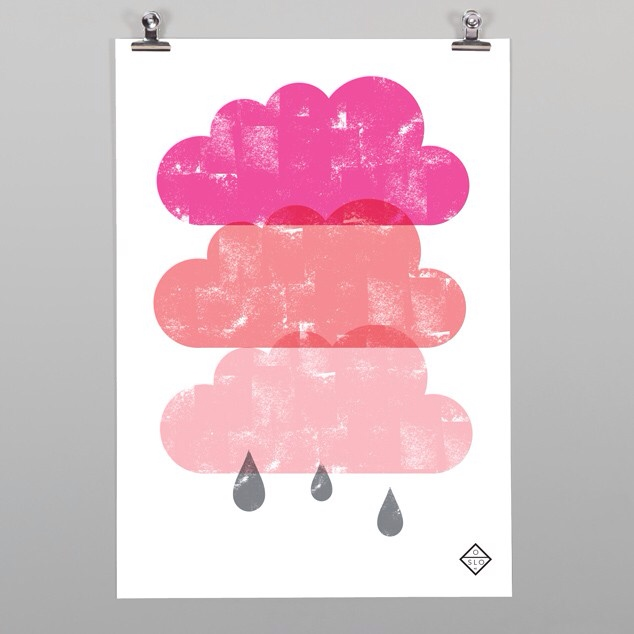 pink rain clouds