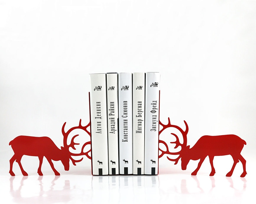 red bookends