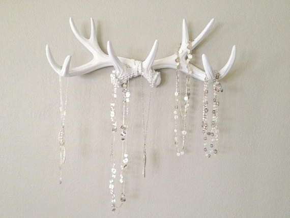white antler hooks