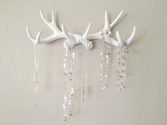 white antler hooks